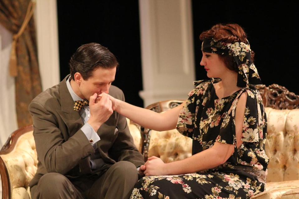 "Lewis Wheeler and Marge Dunn in Wellesley Summer Theatre's production of ""Holiday."""