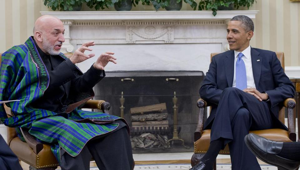President Obama and Afghan President Hamid Karzai met Friday at the White House.