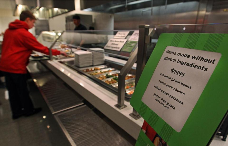 At Northeastern University's dining hall, there's a wide array of gluten-free offerings for students.