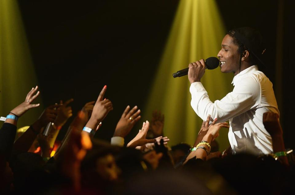 Rapper A$AP Rocky performed during BET's 106 And Park 2013 New Years Eve Party at BET Studios on December 17, 2012 in New York City.