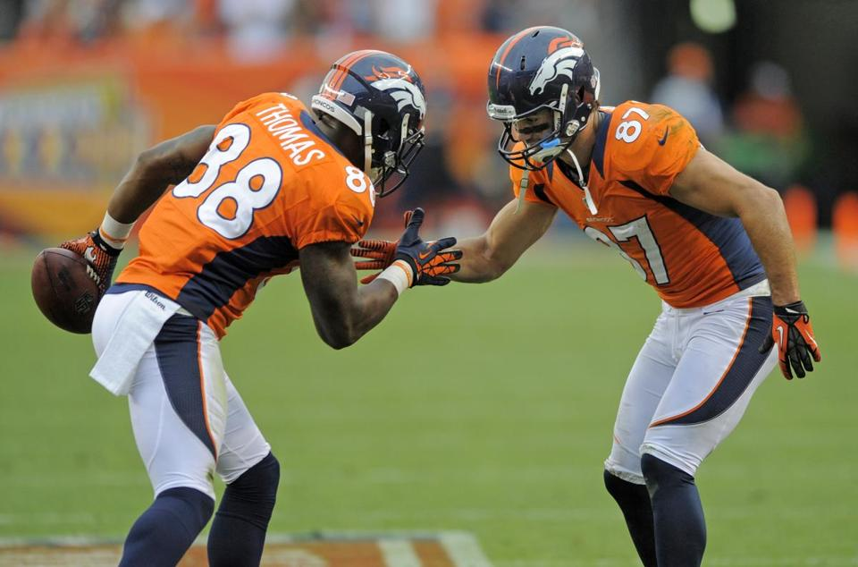 In their first two seasons, Demaryius Thomas and Eric Decker (87) combined for 104 receptions. In 2012 they had 179.