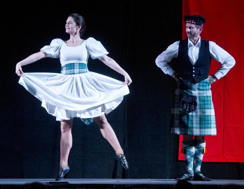 Lindsay Page and Robert McOwen of Highland Dance Boston perform at the Boston Celtic Music Festival finale.