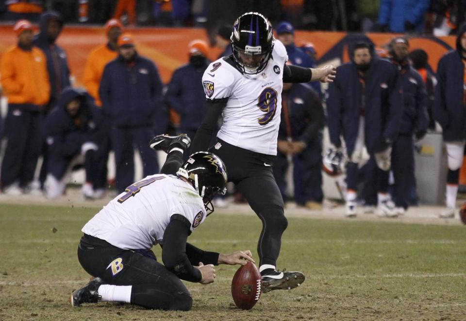 Justin Tucker delivered the winning, 47-yard field goal 1:42 into the second overtime as the Ravens shocked the Broncos to advance to the AFC Championship game.