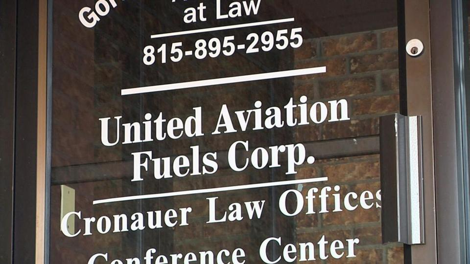 United Airlines says it buys fuel for jets at O'Hare Airport in Chicago from this small office in rural Illinois.