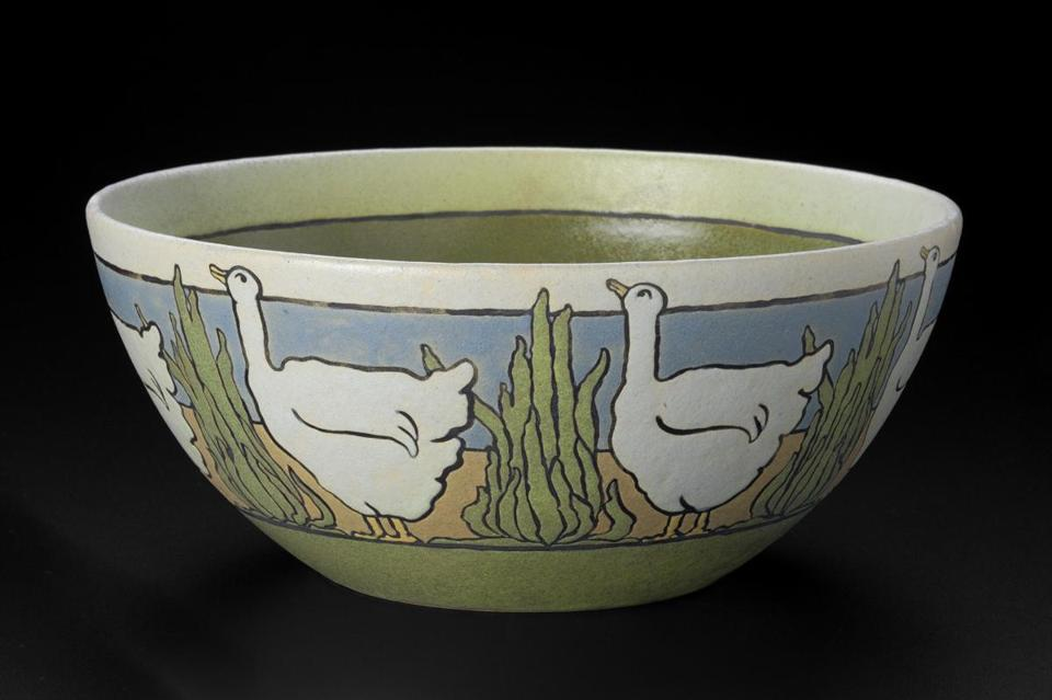 A bowl made by members of the Saturday Evening Girls.