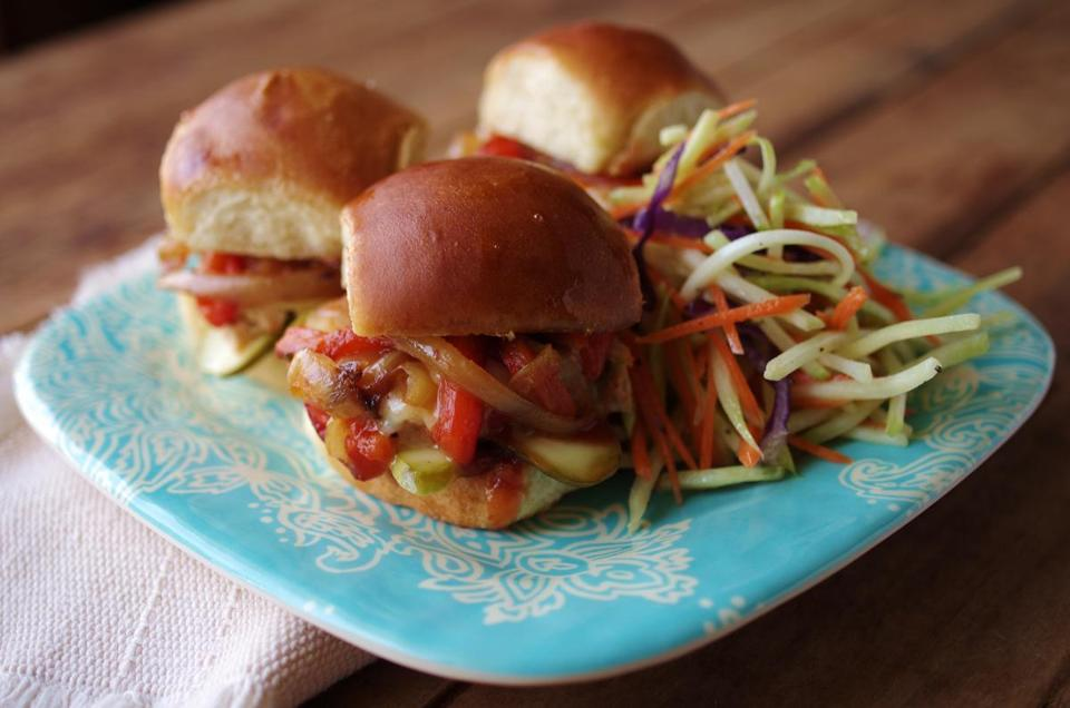 Barbecue turkey sliders.