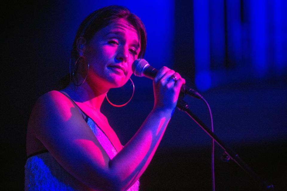 Jessie Ware performs on stage at The Sinclair  in Cambridge.