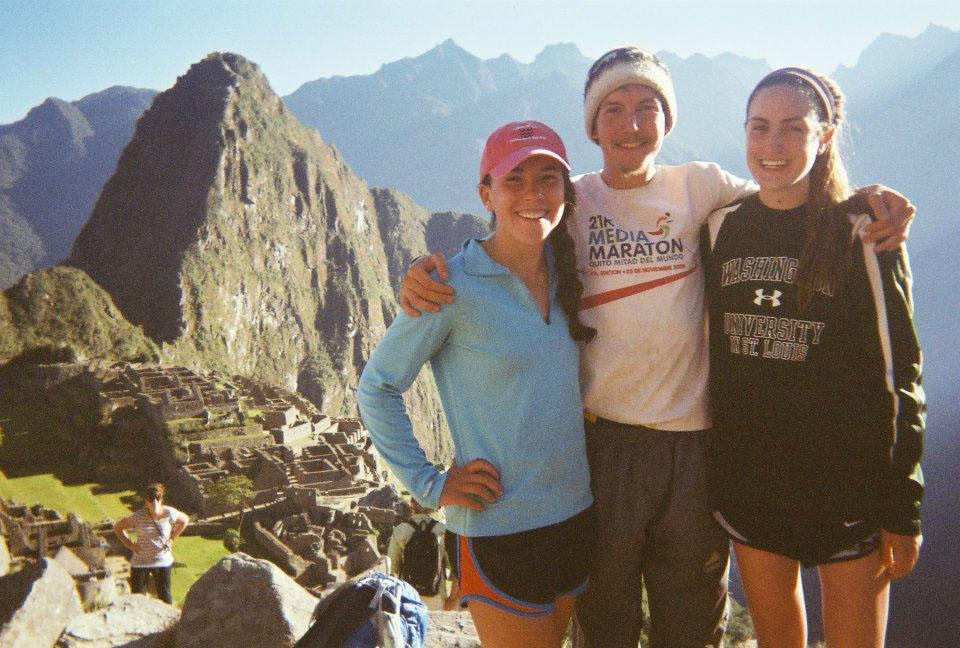 Tyler Andrews, director and co-owner of STRIVE Trips, with participants Emma Langley and Reba Orloff at Machu Picchu, Peru, last August.