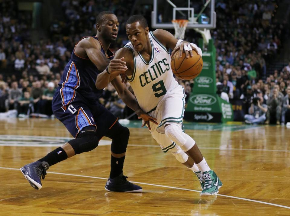Celtics point guard Rajon Rondo finished with 17 points, 10 rebounds, and 12 assists, turning the ball over just twice.
