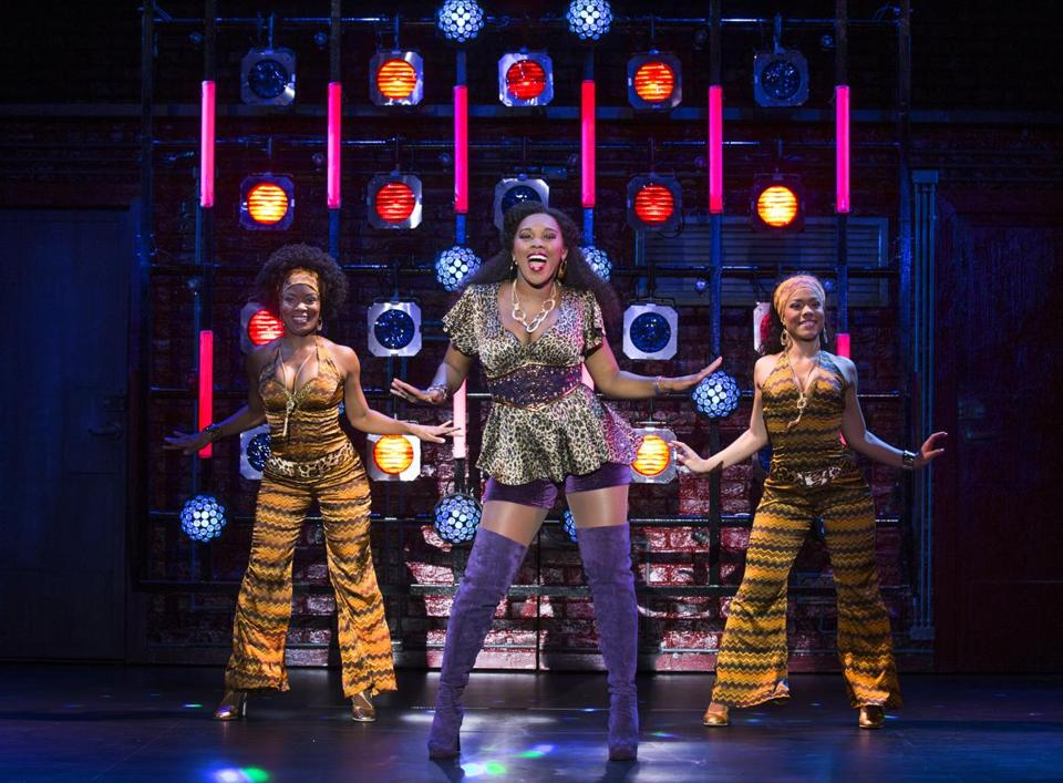 "Ta'Rea Campbell, with Alysha Deslorieux and Trisha Jeffrey, provides the driving force of ""Sister Act'' at the Boston Opera House."
