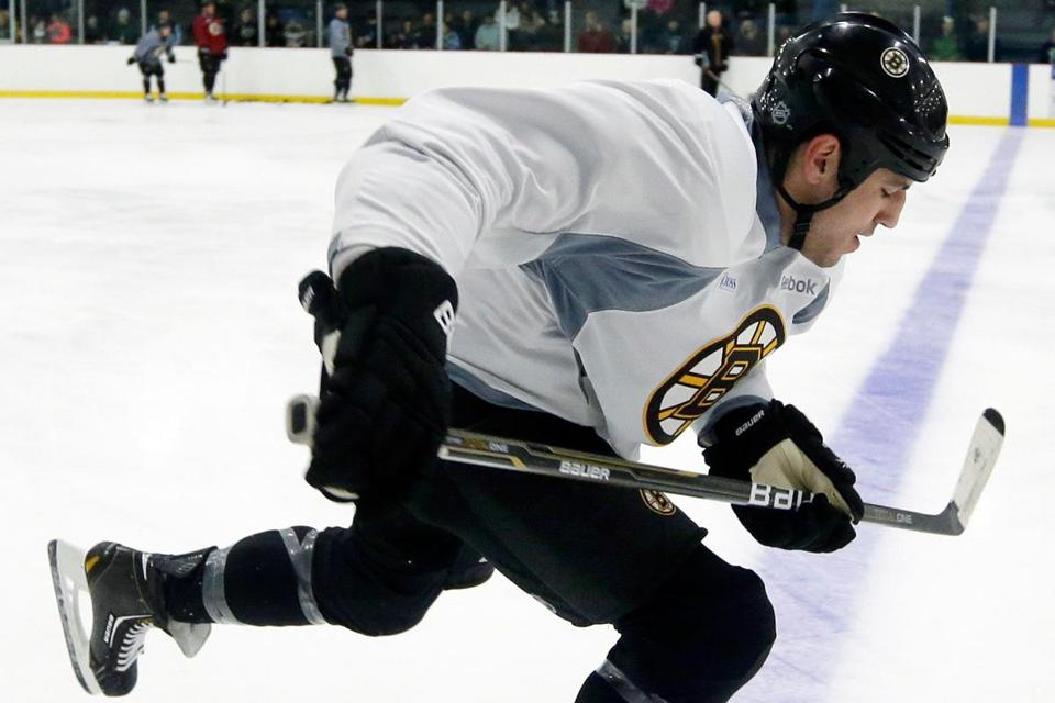 When they're on, Milan Lucic (above), David Krejci, and Nathan Horton can be as dominant as any offensive threesome.