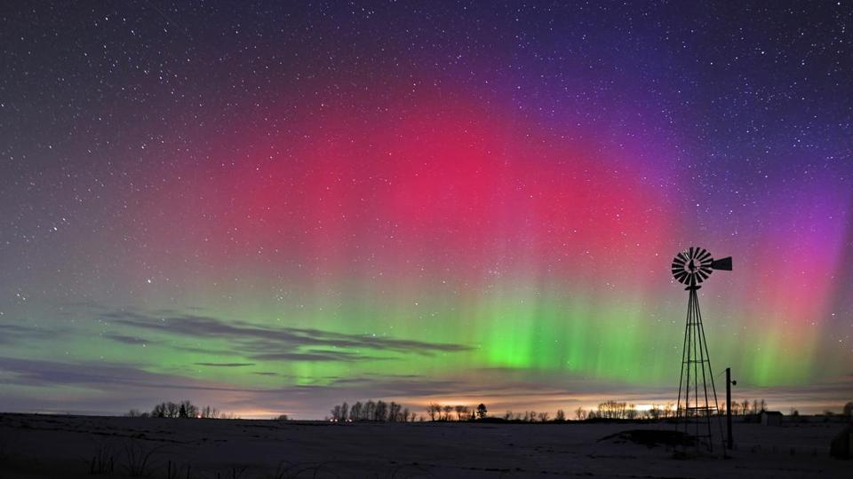 Northern lights in January 2012 over Easton, a town near Presque Isle in northeast Maine.