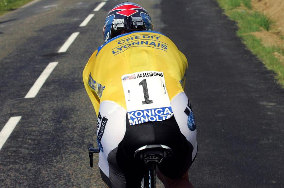 Lance Armstrong in the 2004 Tour de France.
