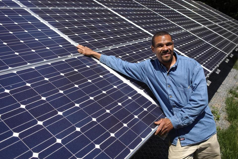 Walter Cowham of Quincy has installed two solar panel systems at his home since 2010.