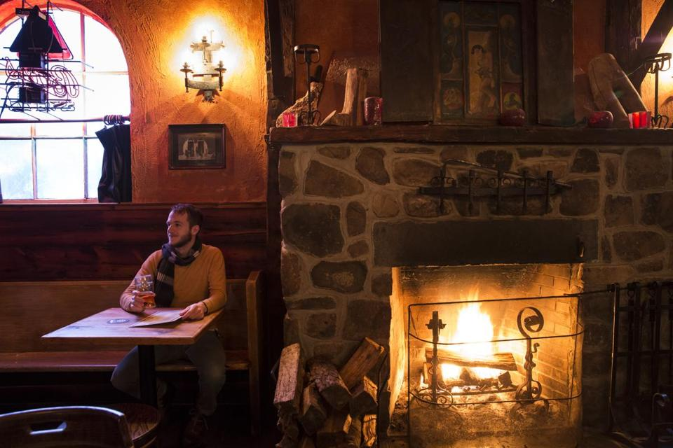 Grab a cozy fireside seat at James's Gate in Jamaica Plain