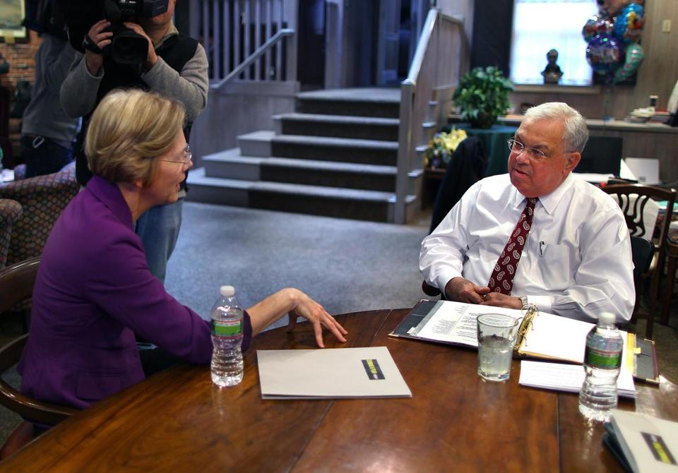 Mayor Thomas Menino and US Senator Elizabeth Warren will discuss how across-the-board federal budget cuts known as the sequester will hit National Institute of Health research funding.