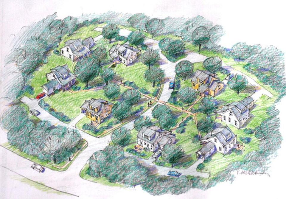 The 40B project at 80 Beal St. in Hingham features eight cottage-style homes on three acres.