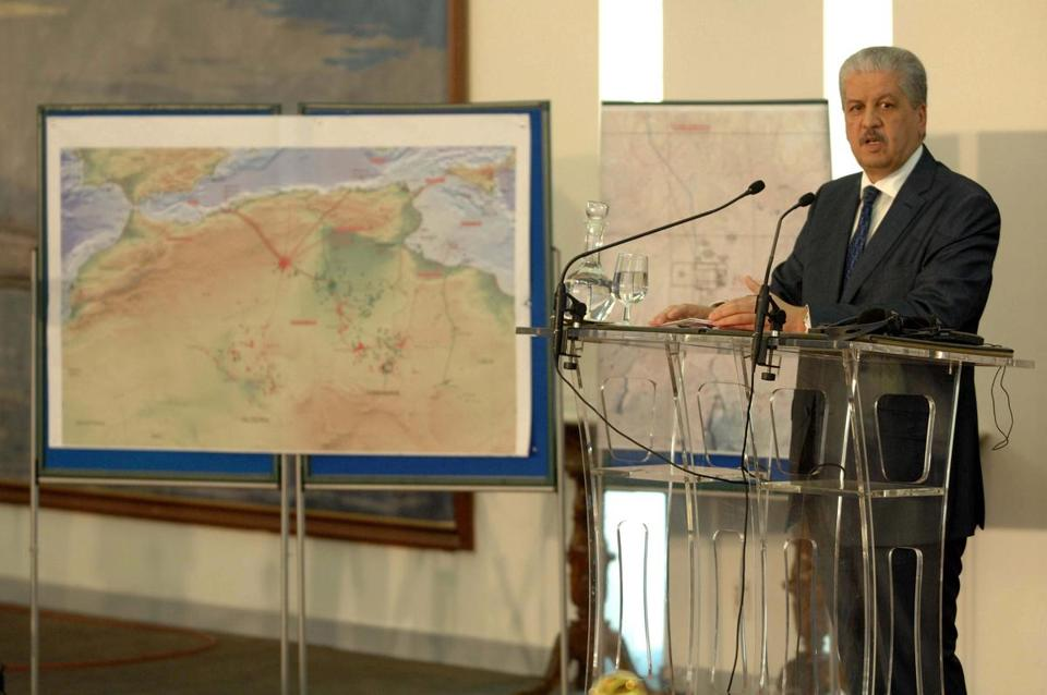 Algerian Prime Minister Abdelmalek Sellal spoke during a press conference Monday.