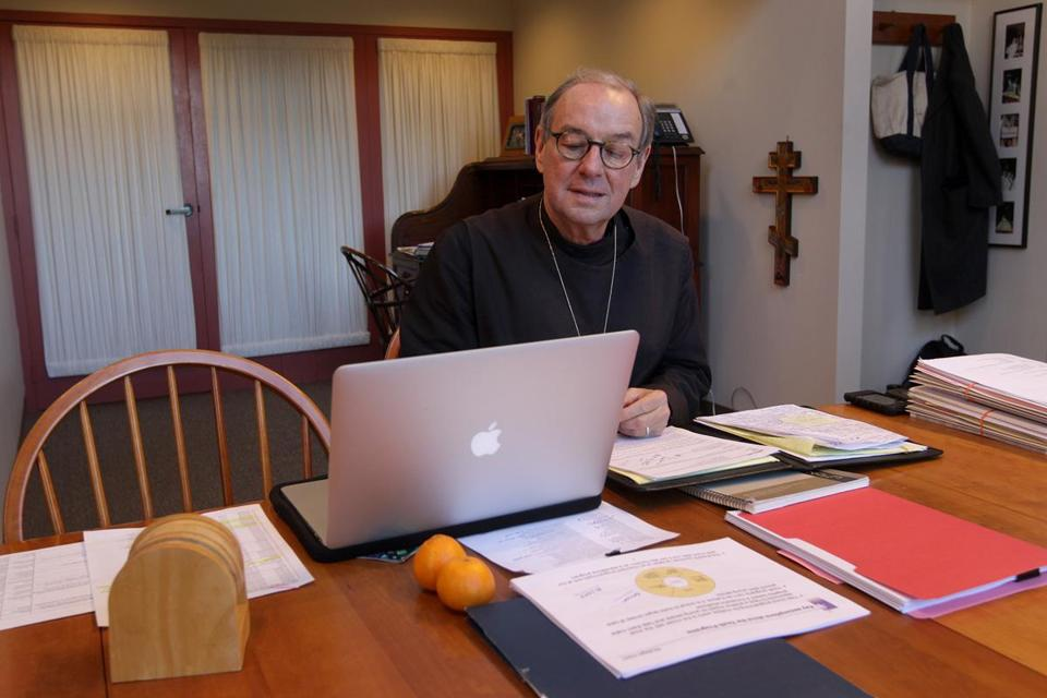 Episcopal Bishop M. Thomas Shaw has pushed for peace in the Middle East and worked on strategies to help end gun violence in Massachusetts.