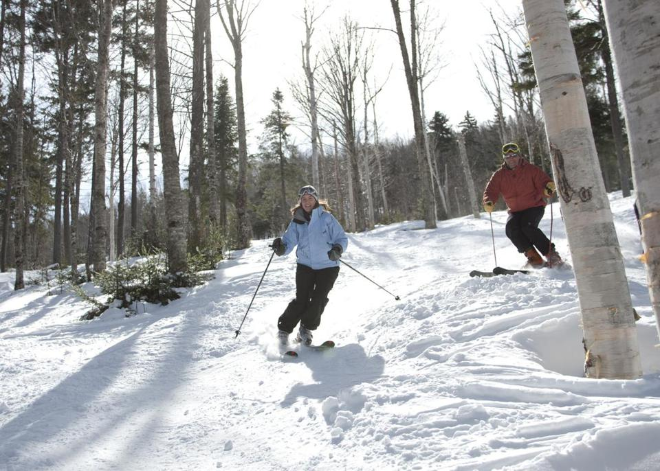 The newly thinned-out glades at Bretton Woods are remote, wild, and very quiet, covering some 30 acres on the northern slopes of the White Mountains, with far-reaching vistas. A Doppelmayr T-bar takes skiers to the top to begin their runs.