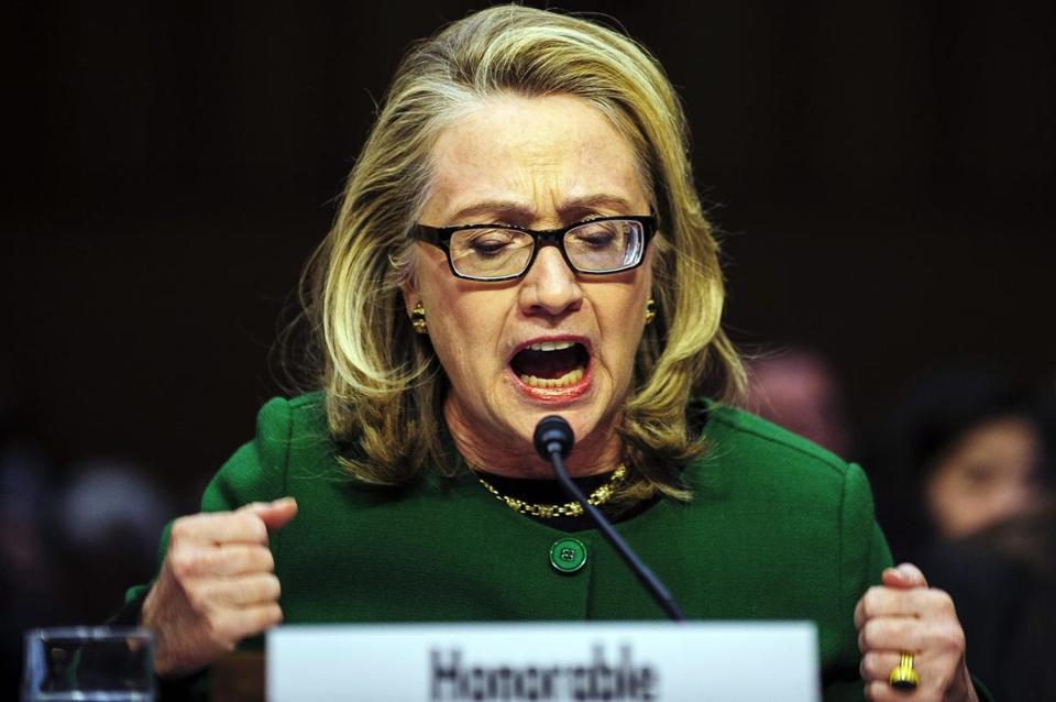 In one of her last public appearances as secretary of state, Hillary Clinton testified for six hours on the attack in Benghazi that killed four Americans.