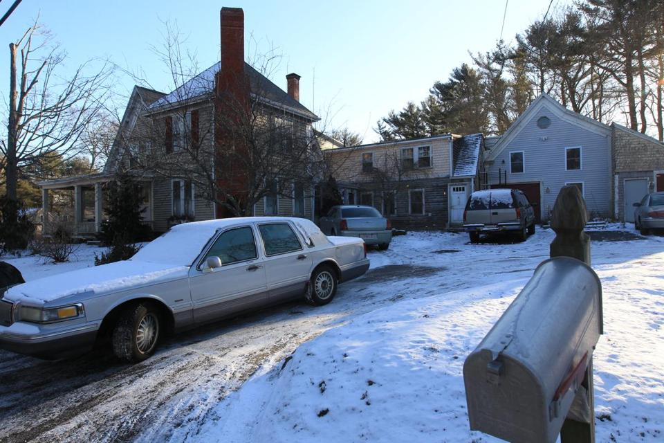 A home on Acorn Street in Marshfield that was the site of a home invasion late Tuesday.