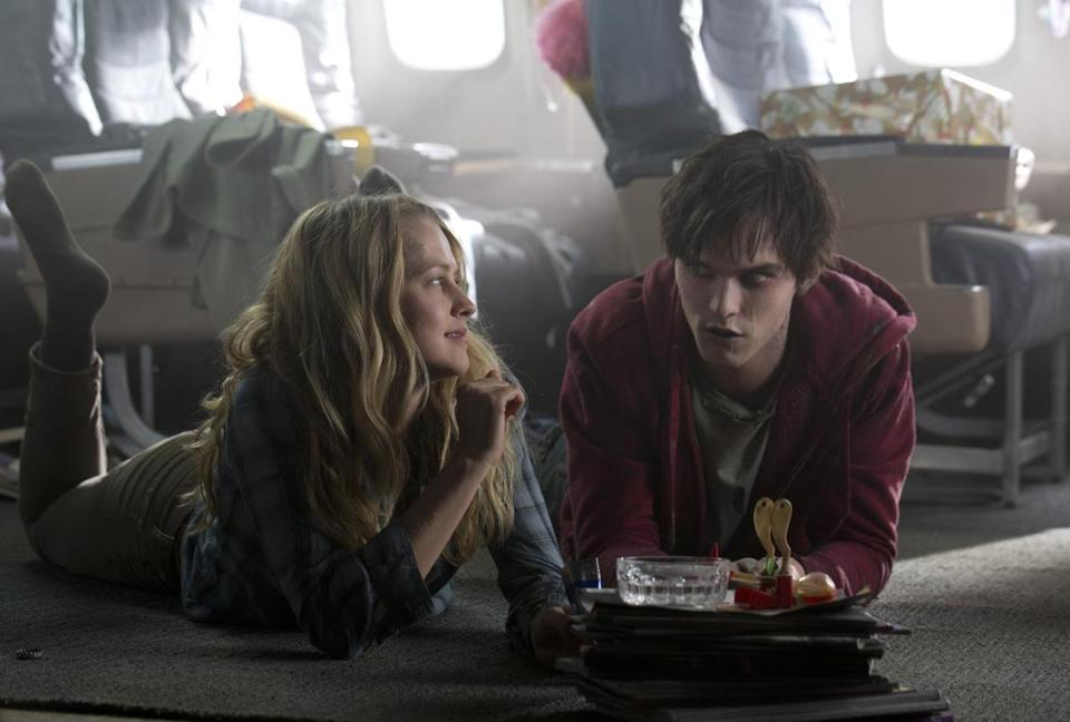"Teresa Palmer and Nicholas Hoult star in the zombie love story ""Warm Bodies."""