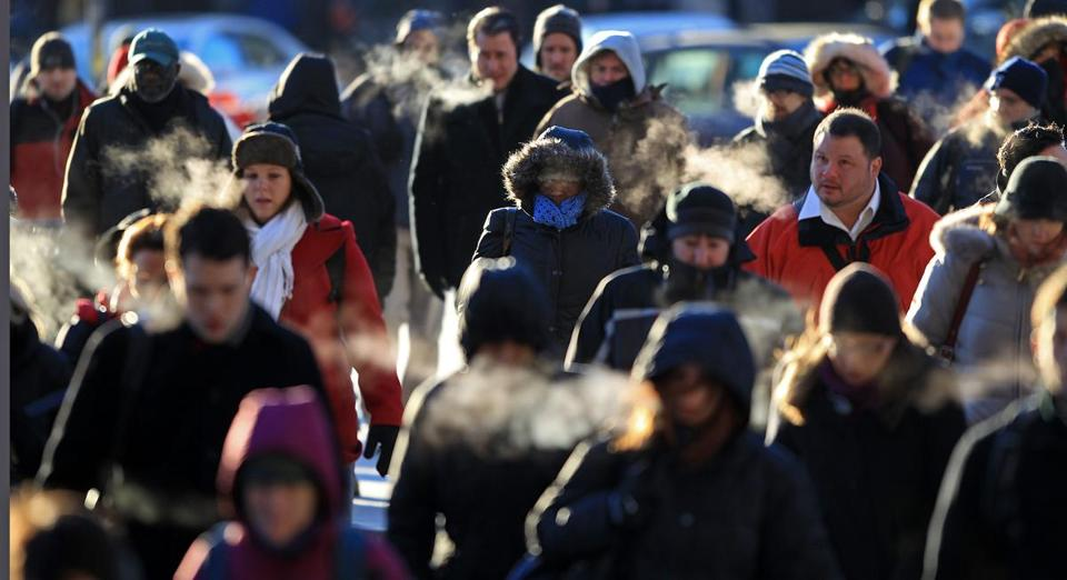 An arctic blast continues to hit Boston with below-zero wind chills.