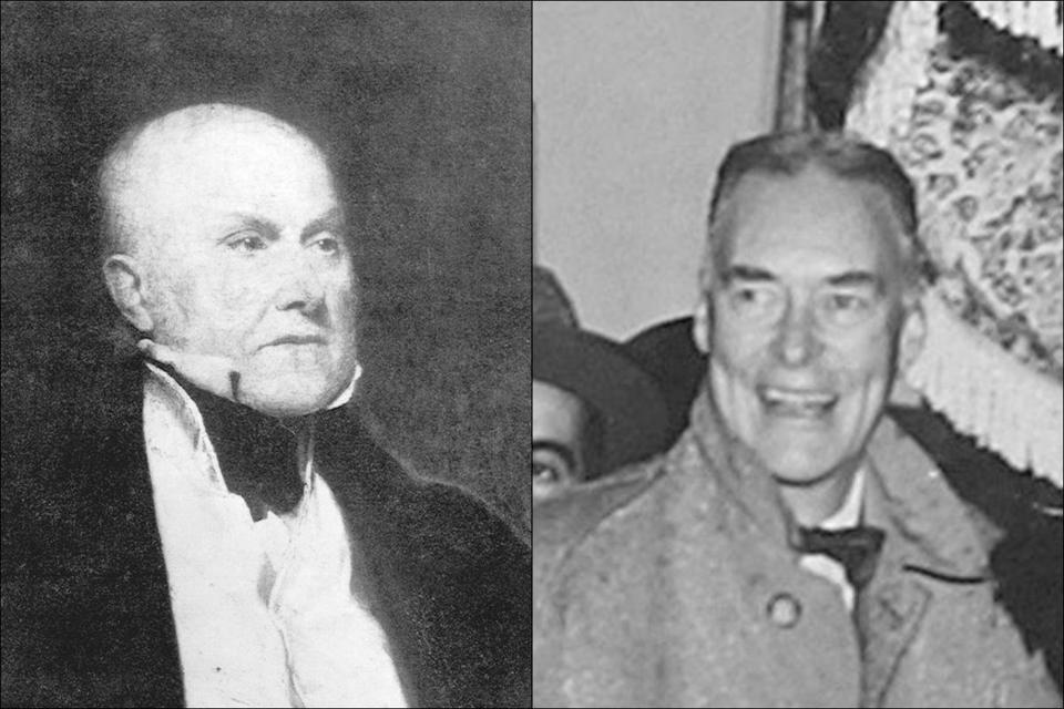Bay staters John Quincy Adams (1817- 1825) and Christian Herter (1959- 1961) served as secretaries of state.