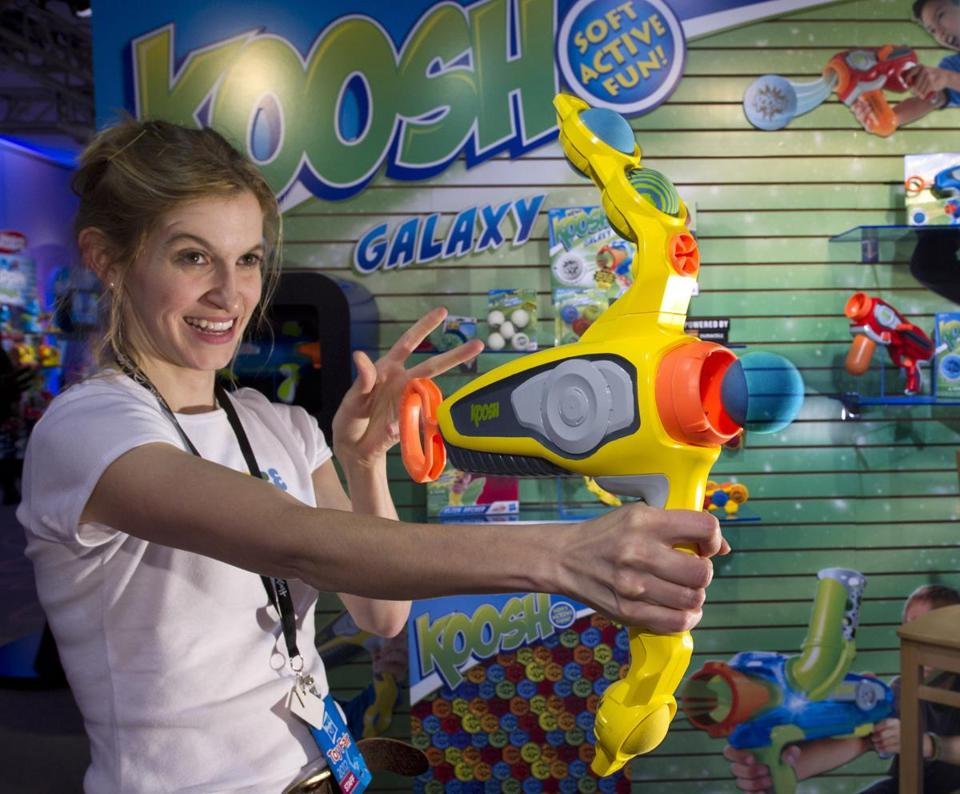Hasbro, which makes the Koosh Alien Archer (above), said it has no plans to close Massachusetts and Rhode Island plants.
