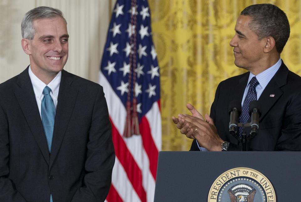 President Obama announced Denis McDonough as his next chief of staff Friday.