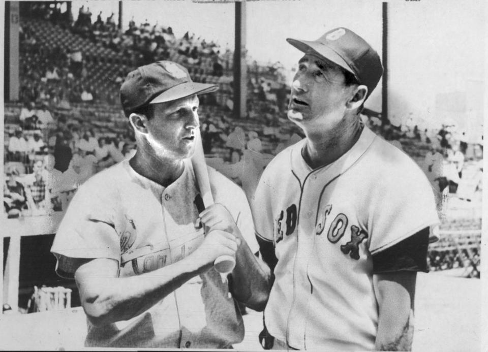 Stan Musial, left, and Ted Williams, two members of what Bob Ryan calls baseball's Mount Rushmore, were together at the 1960 All-Star game.