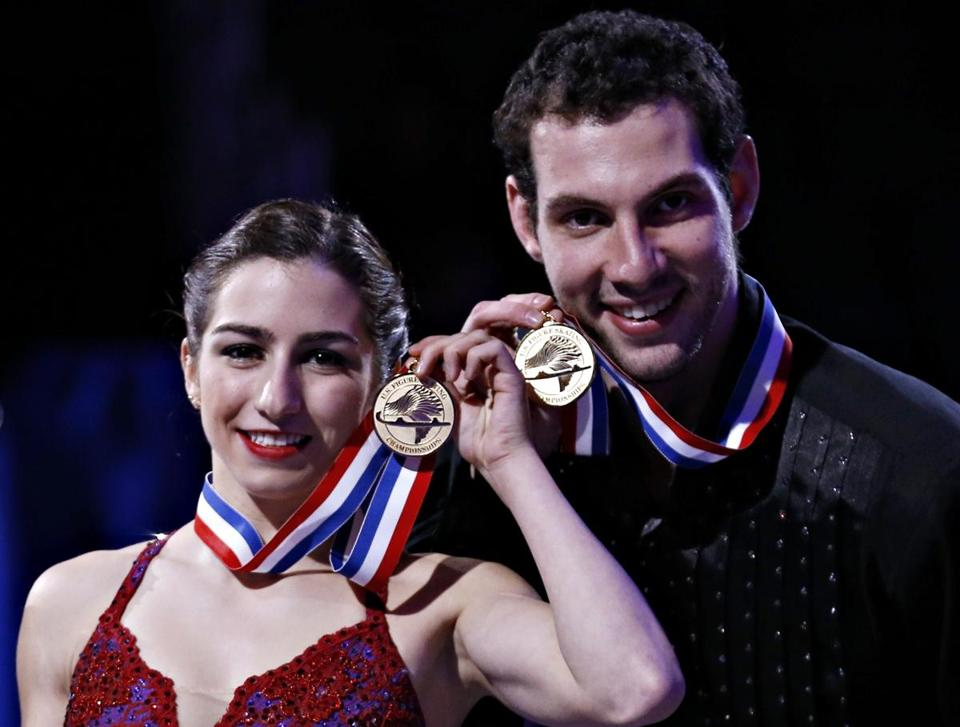 Marissa Castelli and Simon Shnapir are the first members of the Skating Club of Boston to win US pairs since 1961.