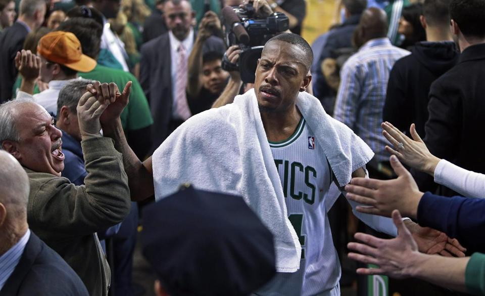 Paul Pierce and the Celtics have experienced a lot of highs and lows over the past two months.