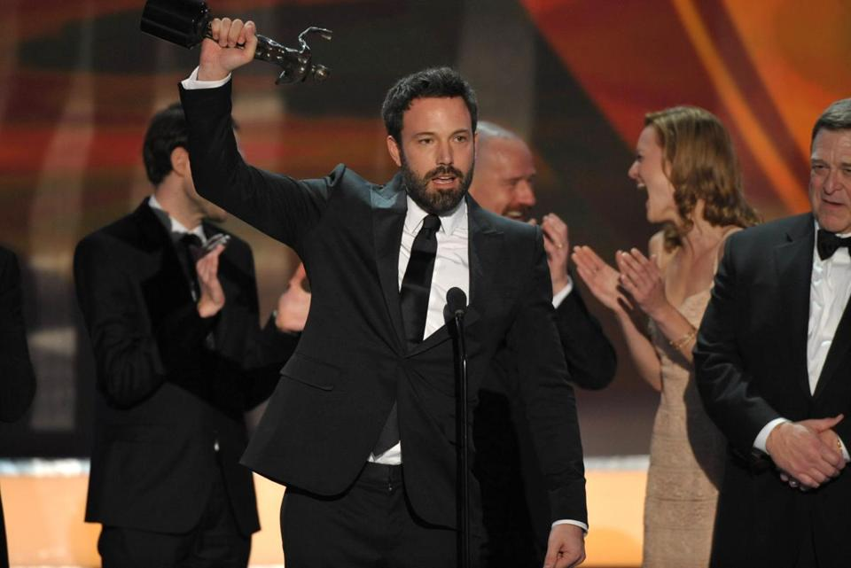 "Ben Affleck and the cast of ""Argo"" accepted the award for outstanding cast in a motion picture at the 19th Annual Screen Actors Guild Awards."