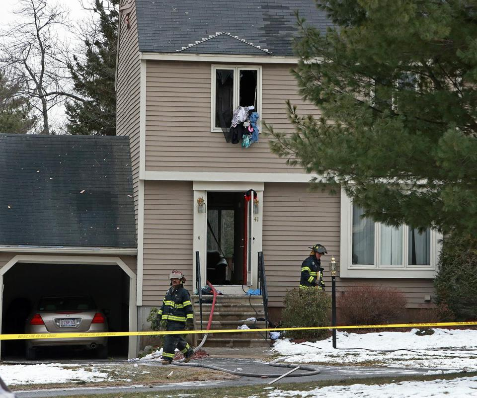 The victim of a fire at this Brickett Hill Circle townhouse on Monday was not immediately identified by officials.