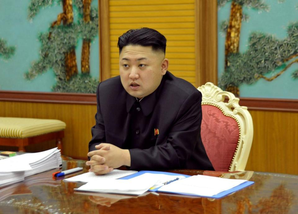Kim Jong-Un convened his security aides.