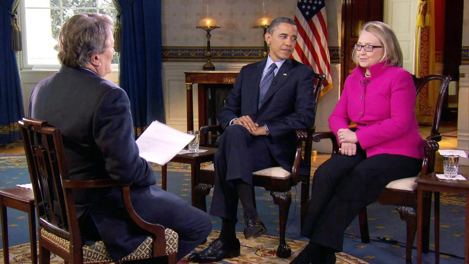"In a joint interview on ""60 Minutes"" on CBS on Sunday, Obama and Clinton chuckled as they described their partnership."