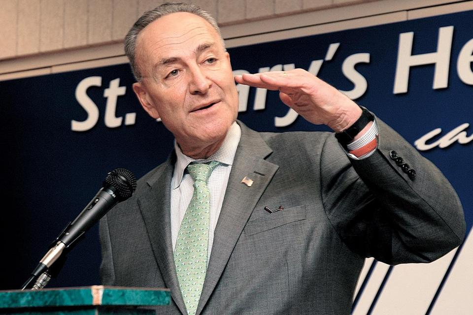 "Democrats made ""great, great progress"" with Republicans, Senator Charles Schumer said."