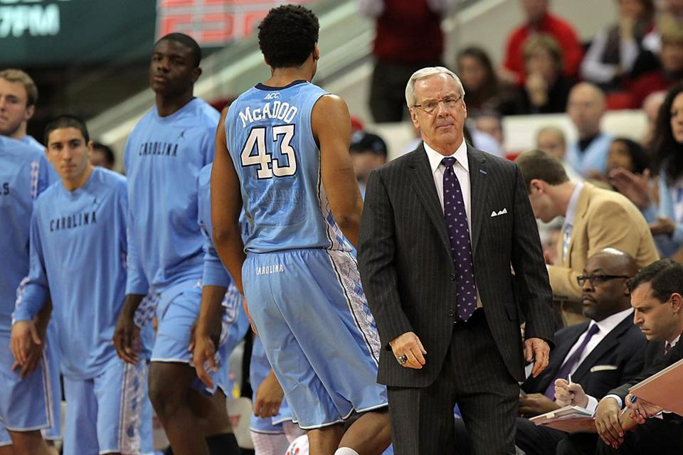 As North Carolina visits Conte Forum Tuesday night to face Boston College, Roy Williams wasn't in the mood to treat basketball like babysitting.