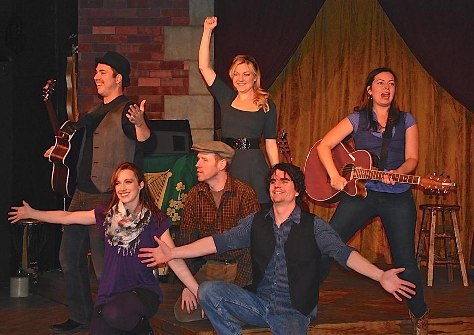 From left: Gregg Hammer, Janice Landry, Jon Dykstra, Meredith Beck, Andrew Crowe, and Irene Molloy in the Frank McCourt musical revue.