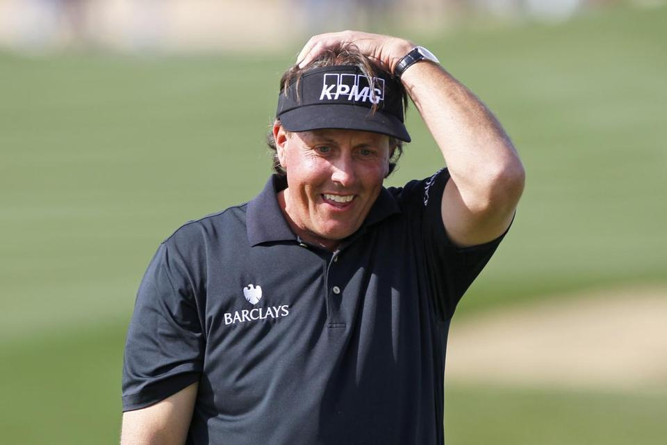 Phil Mickelson had every right to believe his birdie putt for a 59 was going to go in the hole . . . until it didn't.