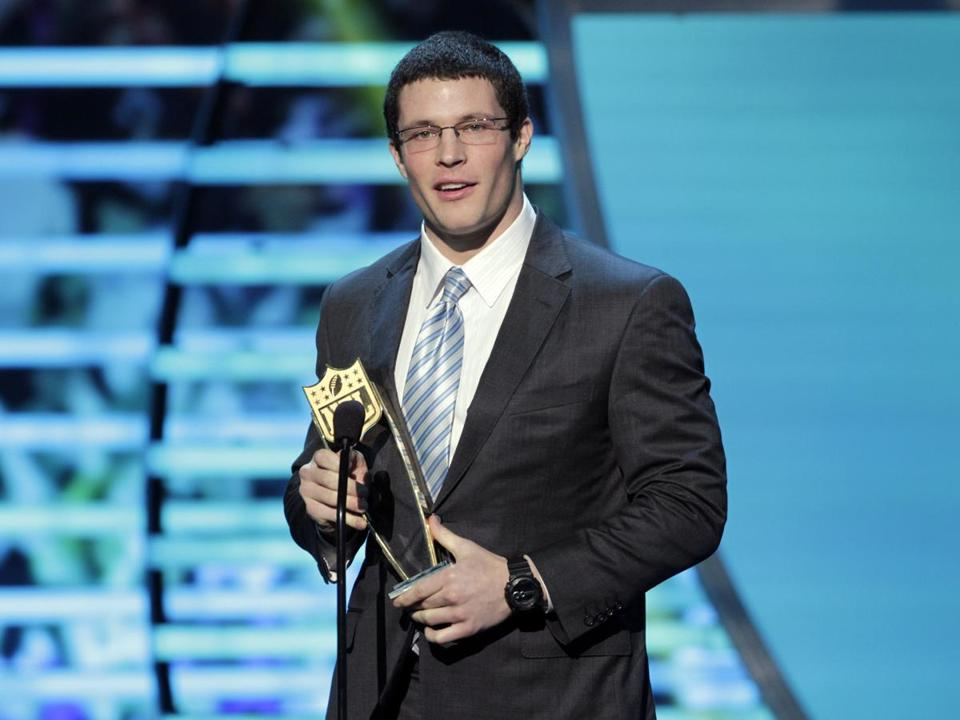 Luke Kuechly is the second Panther to win the award; Julius Peppers got it in 2002.
