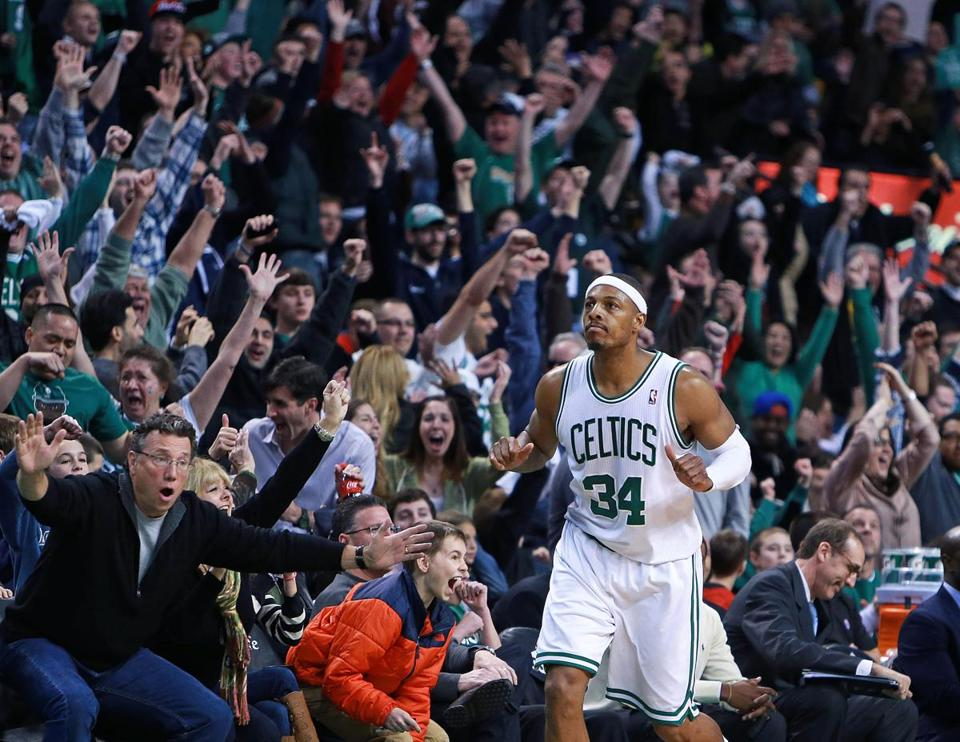 The TD Garden crowd erupted after Paul Pierce drilled a game-clinching shot in the final seconds.