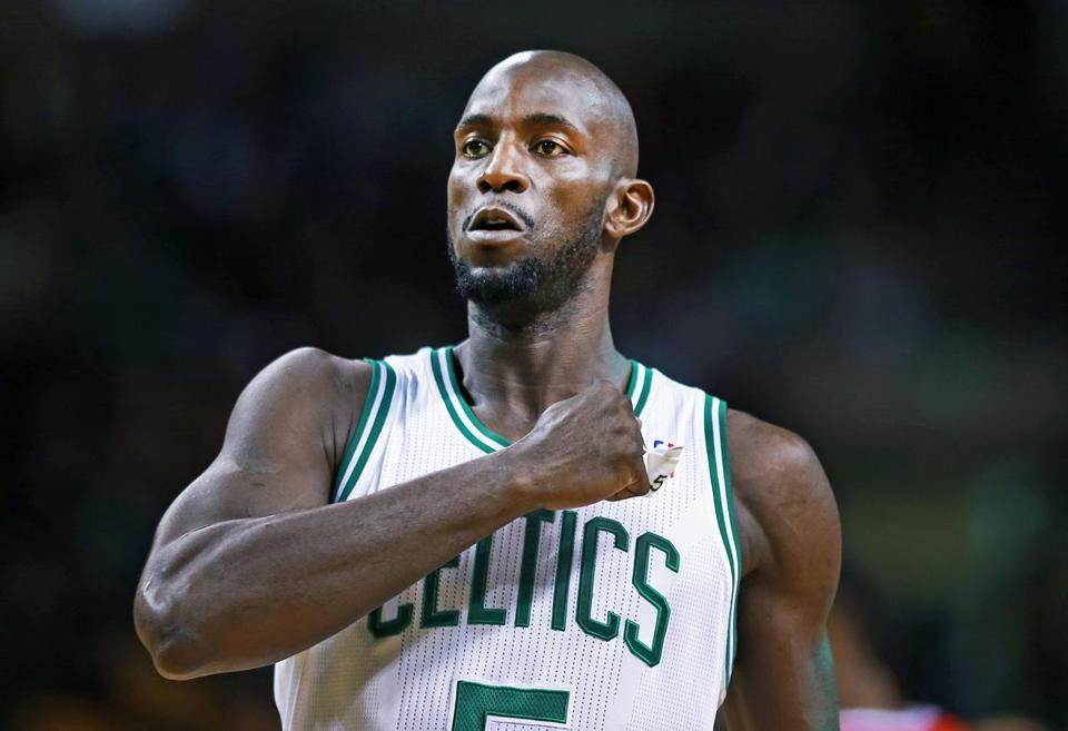 Kevin Garnett's strained adductor muscle has kept the 37-year-old out of Saturday's Celtics game against the Bobcats.