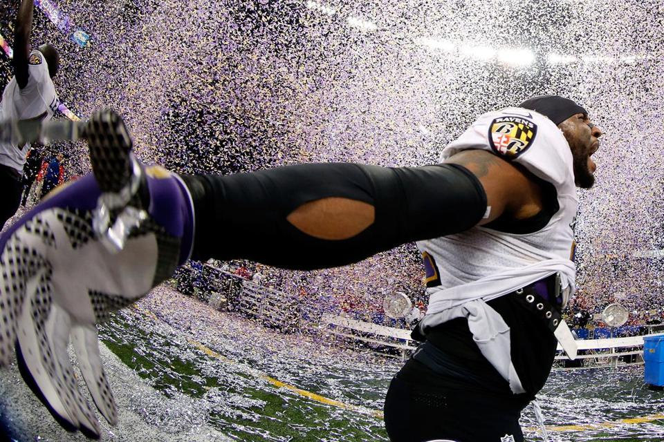 Ravens linebacker Ray Lewis, who announced his retirement before the playoffs, went out a winner, capping a 17-year career with his second Super Bowl title.