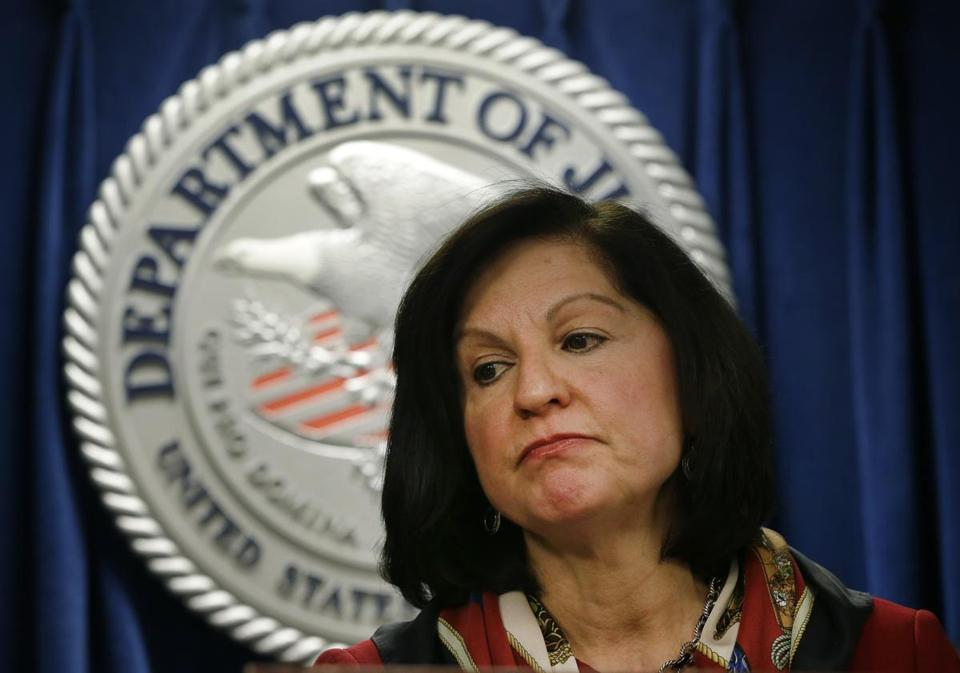 US Attorney Carmen Ortiz spoke at a news conference in Boston Jan. 17 regarding her office's case against Internet freedom activist Aaron Swartz.