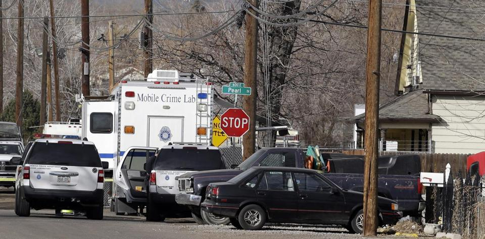 Police investigated the scene of a shooting in the Globeville neighborhood in Denver on Wednesday.