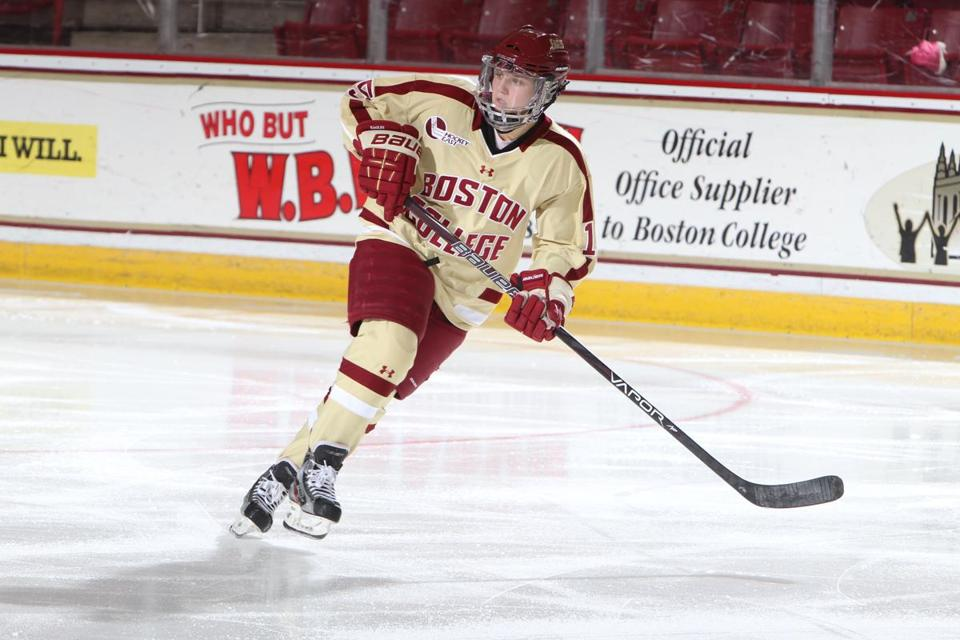 Emily Field has settled in at BC to become a scoring ace who will help lead her team in the Beanpot final.
