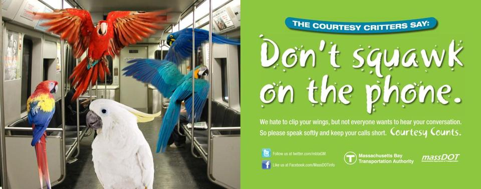 The MBTA's new subway ads feature badly behaving animals.